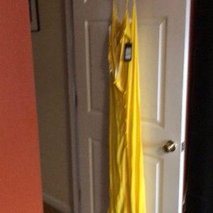 Yellow sundress-tee strap. New York brand